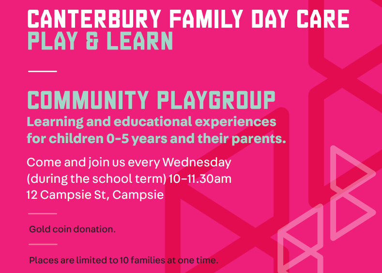 Banner for Family Day Care Play and Learn program