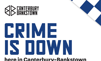 Poster for Crime is Down campaign